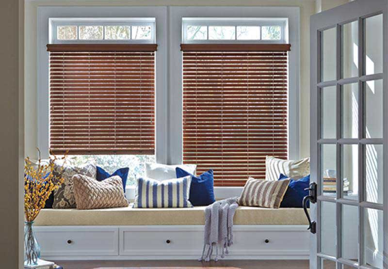 Everwood® TruGrain® faux wood blinds