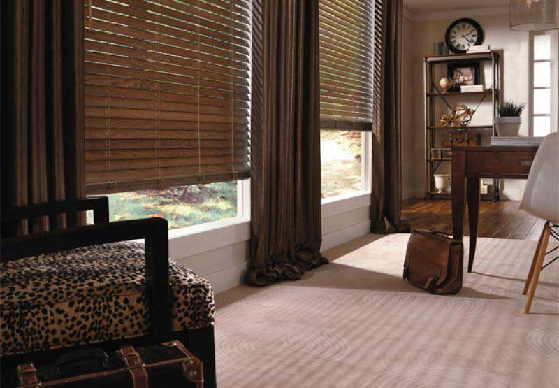 Parkland Ash traditional wood window blinds